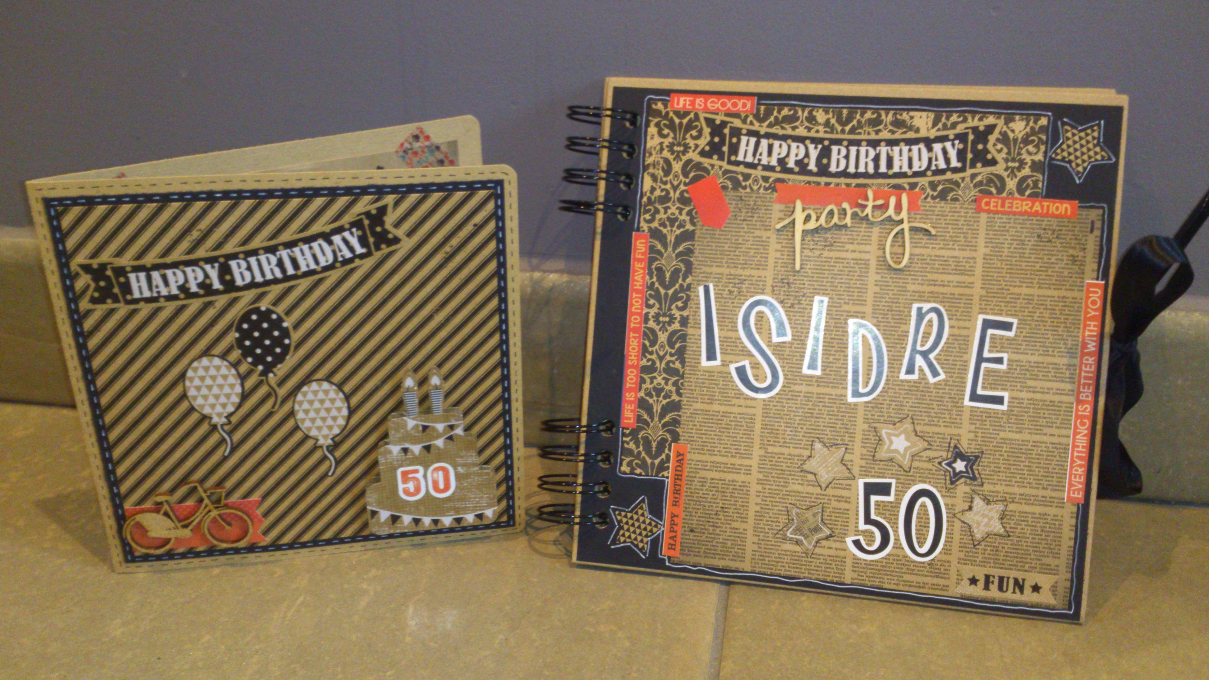 """Tarjeta y libro de firmas """"Happy Birthday"""" – Bibiana"""