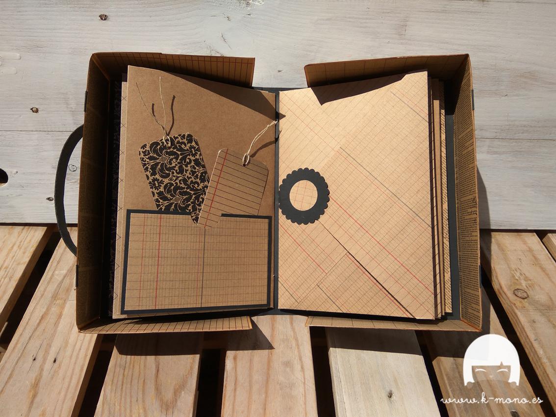 Maleta Mini Álbum con sobres para DK Scrap Collection 5