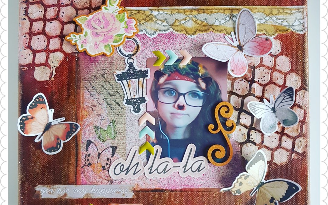 Layout en lienzo «Chantilly Lace» – Kira Creaciones
