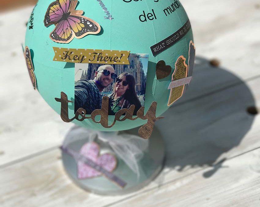 Bola del mundo decorada – Sandra K-Mono