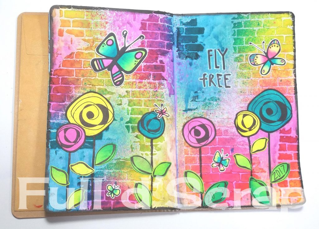 Art Journal flowers and butterflyes1