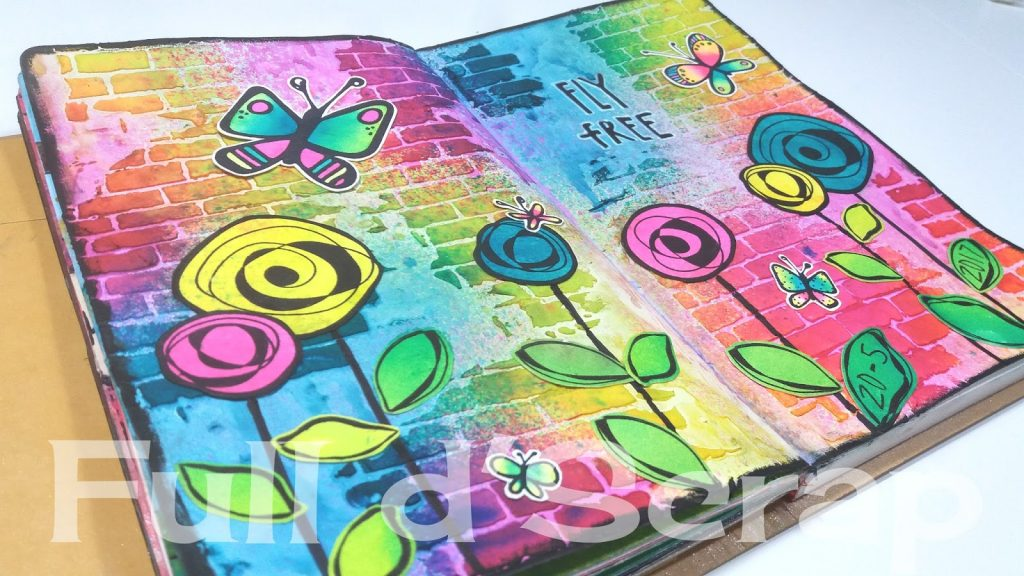 Art Journal flowers and butterflyes2