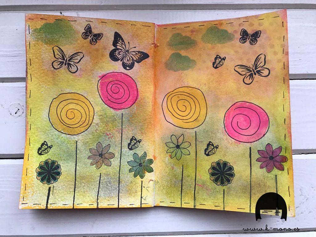 Foto Mariposas flores
