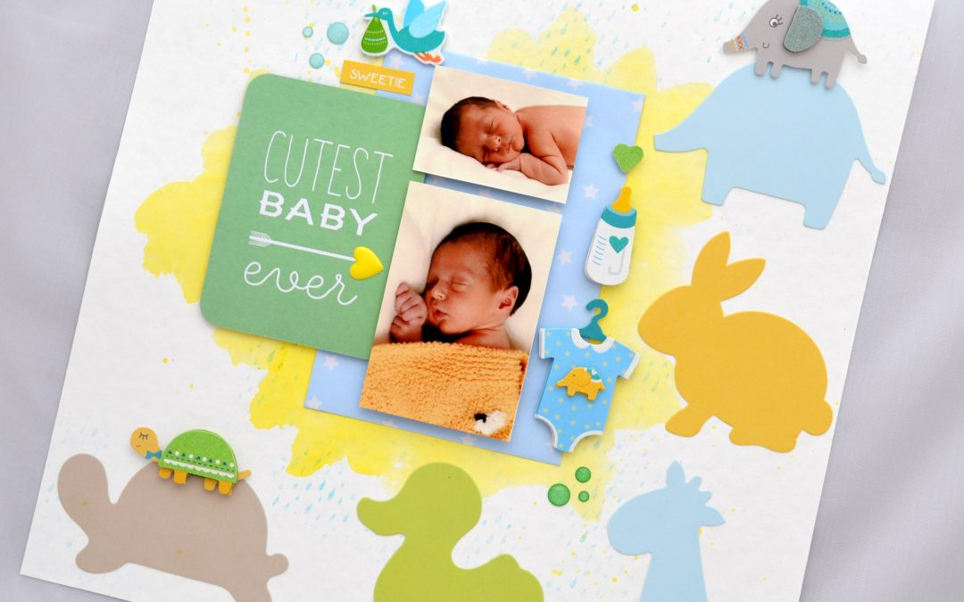 Layout «Baby Boy» – Laura Crearte