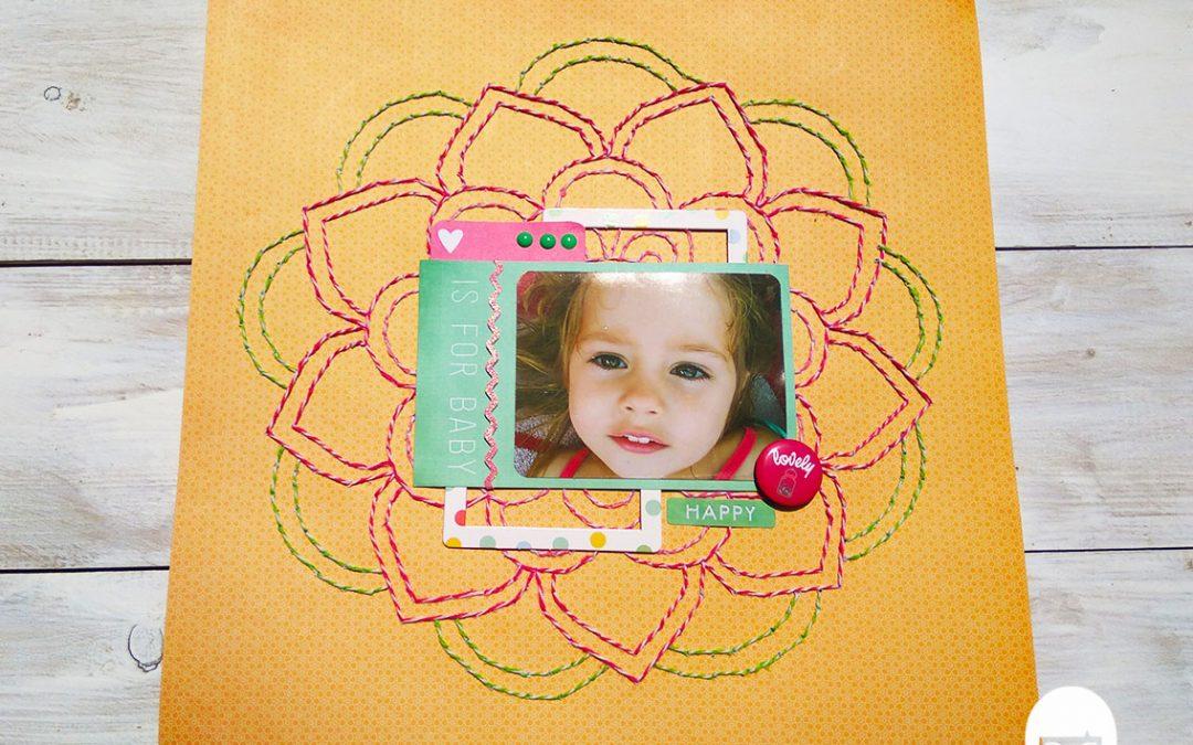 Cómo coser un Mandala en un Layout – Vanesa K-Mono
