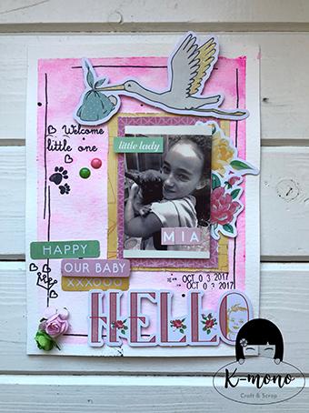 Tarjeta «Oh Baby!» – Sandra K-Mono
