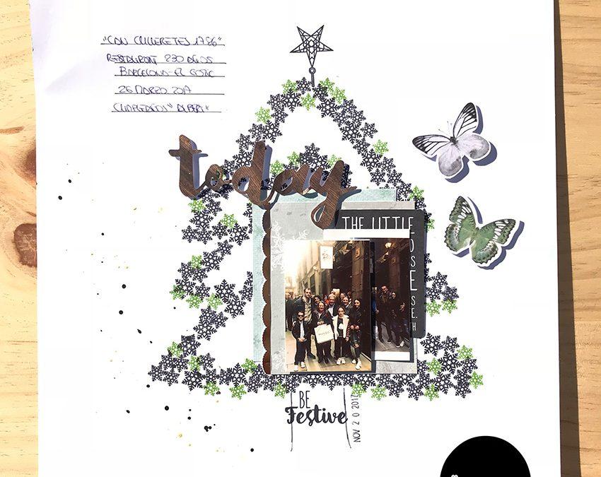 Layout navideño – Sandra K-Mono