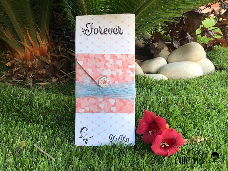 Tarjeta porta dinero de boda – Sandra K-Mono